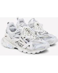 Balenciaga Track.2 Sneakers In Mesh And Nylon - White