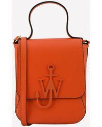 JW Anderson Anchor Calfskin Top Handle Bag - Orange