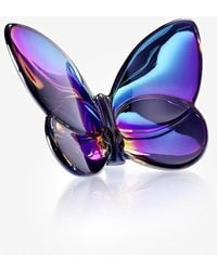 Baccarat Papillion Lucky Butterfly In Crystal - Grey