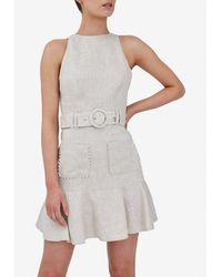 Keepsake Slide Belted Mini Dress S - Multicolour