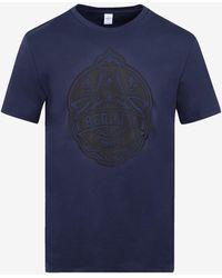 Berluti Logo Print Cotton T-shirt - Blue