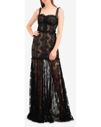Alexis Kieran Lace Flared Gown L - Black