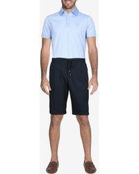 Canali Cotton Drawstring Bermuda Shorts It 50 - Blue