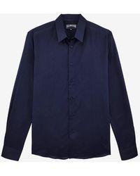 Vilebrequin Unisex Caracal Cotton Shirt Xs - Blue