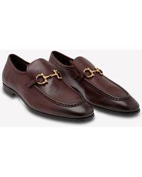 Ferragamo Anderson Calfskin Gancini Logo Loafers - Brown