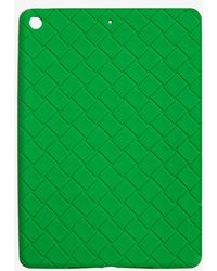 Bottega Veneta Intrecciato Rubber Ipad Case Onesize - Green