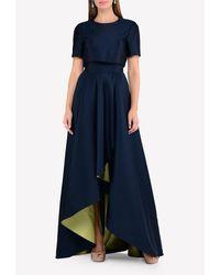 Jason Wu Livienne High-low Gown Us 6 - Blue