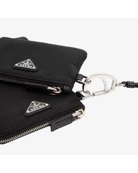 Prada Re-nylon Phone Holder With Pouch Onesize - Black