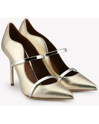 Malone Souliers - Maureen 100 Metallic Nappa Leather Pumps - Lyst