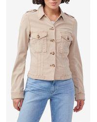PAIGE Pacey Classic Denim Jacket Wrtwstd_s - Natural