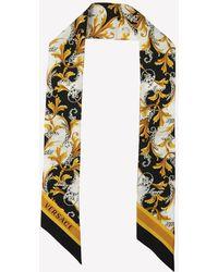 Versace Barocco-print Silk Twill Bandana - Multicolour