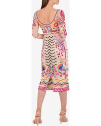 Temperley London Fitted Chimera Dress Uk 10 - Multicolour