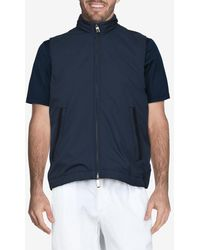 Canali Short-sleeve Jacket With Detachable Hood - Blue