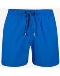 Vilebrequin Moorea Men's Drawstring Swim Shorts - Blue