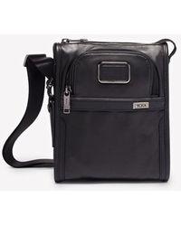 Tumi Alpha Leather Pocket Small Crossover Bag - Black
