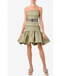 Silvia Tcherassi Marcucci Strapless Patterned Mini Dress Wrtwstd_s - Green