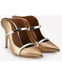 Malone Souliers Maureen 100 Metallic Nappa Leather Mules
