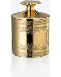 Versace Scented Candle With Medusa Motif - Metallic