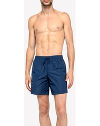 Sundek Stretch Waist Mid-length Swim Trunks - Blue