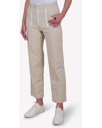 Bimba Y Lola Straight-cut Exposed Zip Pants In Linen-blend Wrtwfr_fr 38 - Natural