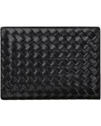 Bottega Veneta Medium Intrecciato Document Case In Spazzolato Leather - Black