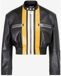 Miu Miu Nappa Leather Jacket It 40 - Black