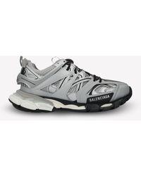Balenciaga - Track Metallic Sneakers In Mesh And Nylon Eu 35 - Lyst