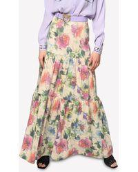 Pinko - Sfavillante 1 Floral Maxi Skirt Uk 8 - Lyst