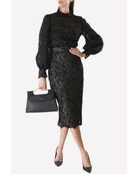 Rachel Gilbert Luella Lace Midi Skirt Wrtwaus_aus 10 - Black
