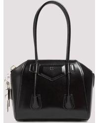 Givenchy Antigona Mini Lock Bag In Smooth Box Leather - Black