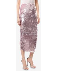 Rachel Gilbert Max Sequined Midi Pencil Skirt Wrtwuk_uk 10 - Pink