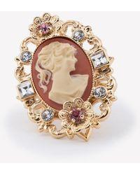 Dolce & Gabbana Gold-plated Crystal-embellished Ring - Metallic