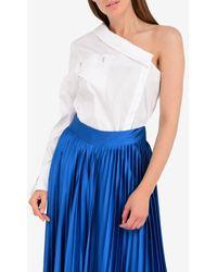 Mugler One-shoulder Asymmetric Shirt - White