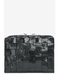 Bottega Veneta Intrecciato Document Case - Black