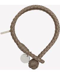 Bottega Veneta Dual-strand Leather Bracelet - Grey