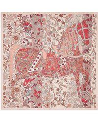 Ferragamo Prince Of Persia Printed Silk Scarf - Pink