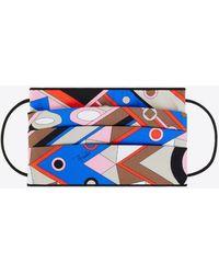 Emilio Pucci Vivara Print Face Mask Cover - Blue