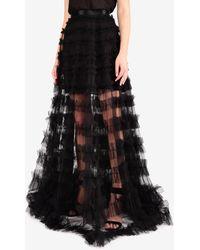 Rachel Gilbert Eira Ruffled Floor-length Skirt Wrtwaus_aus 10 - Black