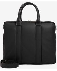 Bottega Veneta Medium Double- Handle Briefcase - Black