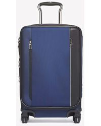 Tumi Arrive' International Dual Access 4-wheeled Carry-on Spinner luggage - Blue