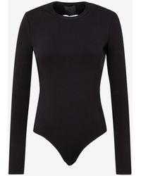 Givenchy Open-back Viscose Bodysuit Wrtwstd_s - Black
