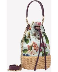 Dolce & Gabbana - Mini Dg Millennials Top Handle Bag In Floral-printed Canvas Onesize - Lyst