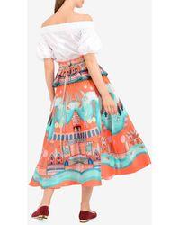Temperley London Nymph Skirt Uk 10 - Orange