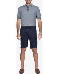 Canali Cotton Drawstring Cargo Shorts It 50 - Blue