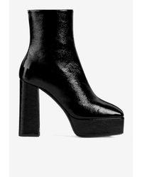 Giuseppe Zanotti Morgana 120 Platform Boots In Patent Leather Eu 34 - Black