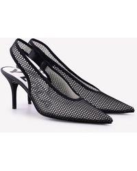 Bimba Y Lola Mesh Pointed Slingback Court Shoes 80 Mm Eu 36 - Black