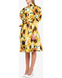 Dolce & Gabbana Sunflower Print Long Dress - Yellow