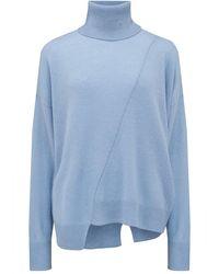 360 Sweater Christine Turtleneck Jumper - Blue