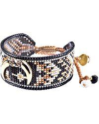 Mishky Cresent Beaded Bracelet - Black