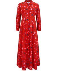 Mercy Delta Rosedene Silk Dress - Red